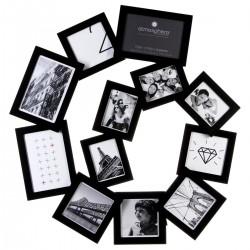 Pêle-mêle en spirale 12 photos - Noir