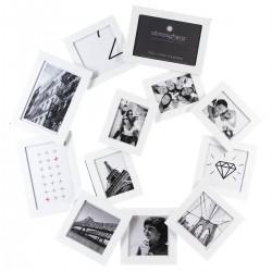 Pêle-mêle en spirale 12 photos - Blanc