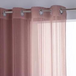 Voilage 240X140cm LISA - Rose pâle