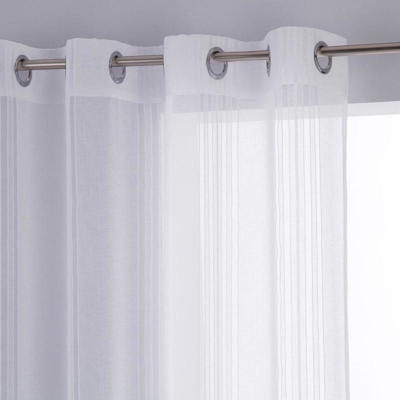 voilage 240x140cm lisa blanc veo shop. Black Bedroom Furniture Sets. Home Design Ideas