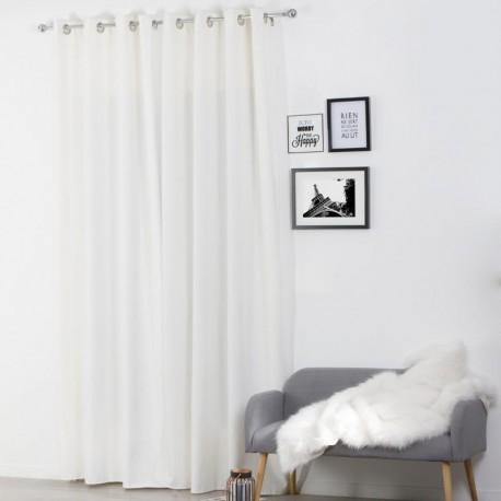 Rideau isolant 260x140cm ivoire veo shop - Rideaux occultants isolants ...