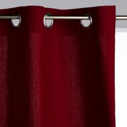 Rideau panama 260X140cm - Rouge bordeaux