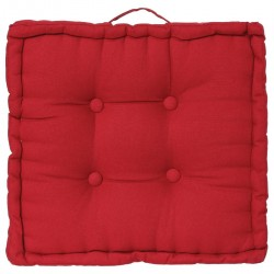 Coussin de sol 40X40cm - Rouge