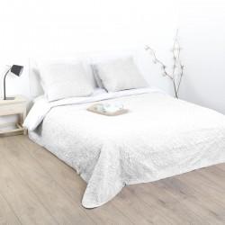 Dessus de lit arabesque et 2 taies d'oreiller - Ivoire