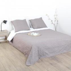 Dessus de lit arabesque et 2 taies d'oreiller - Taupe