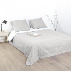 Dessus de lit arabesque et 2 taies d'oreiller - Lin