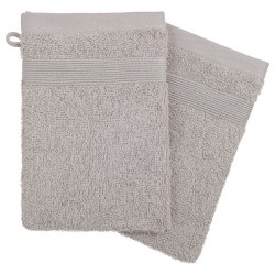 Lot de 2 gants de toilette 21X15cm - Taupe