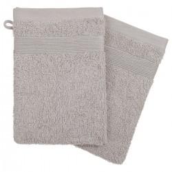 Lot de 2 gants de toilette 450g/m² 21X15cm - Taupe