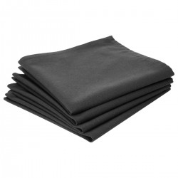 Lot de 4 serviettes de table en coton - Gris foncé