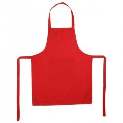 Tablier à une poche en coton 80X60cm - Rouge