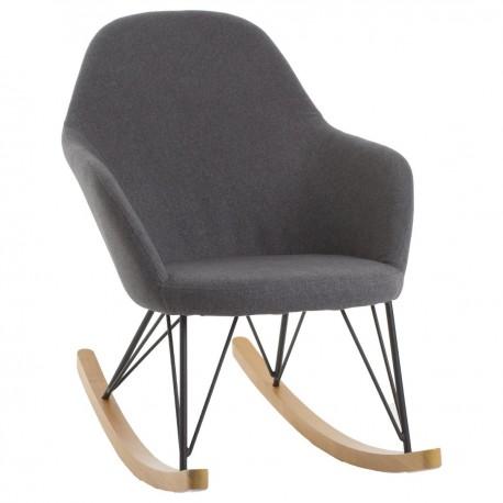 Fauteuil Rocking Chair EWAN Gris Veo Shop - Fauteuil rocking chair