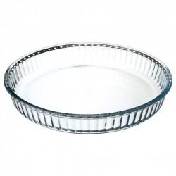 Plat en à tarte en verre D32cm - Transparent