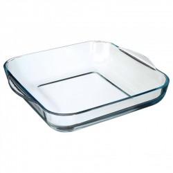 Plat à four carré en verre 29cm