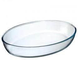Plat ovale en verre 35X25cm - Transparent