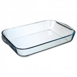 Plat rectangulaire en verre 40X25cm
