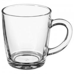 Mug rond en verre 34cL PETIT DÉJ - Transparent