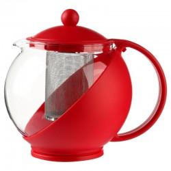 Théière à filtre 1,25L ESSENTIEL - Rouge