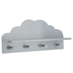 Patère nuage à 4 accroches - Gris
