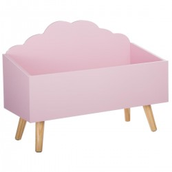Coffre nuage - Rose