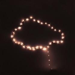 Guirlande LED nuage H32cm