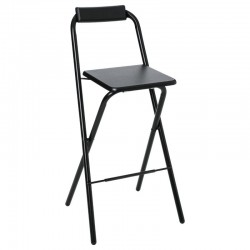 Tabouret de bar pliable LOUNA - Noir