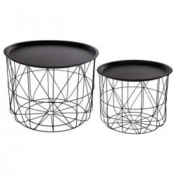 2 Tables à café en métal MATT - Noir