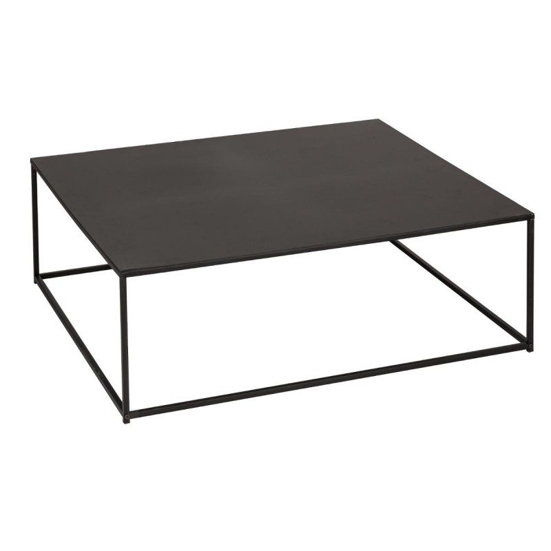 table basse carr e en m tal gota noir veo shop. Black Bedroom Furniture Sets. Home Design Ideas