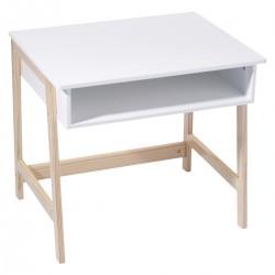 Bureau blanc en bois pour enfant - Blanc