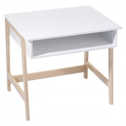 Bureau blanc en bois pour enfant