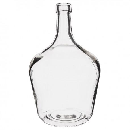 Vase déco transparent DAME JEANNE - Blanc