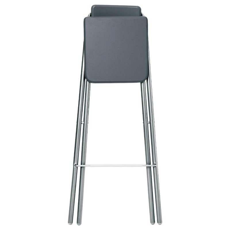 tabouret de bar pliable louna gris veo shop. Black Bedroom Furniture Sets. Home Design Ideas