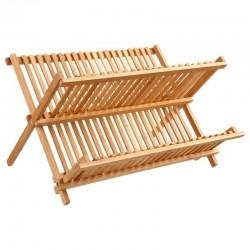 Égouttoir en bambou pour 19 assiettes