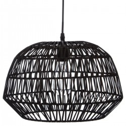 Suspension en rotin D38cm - Noir