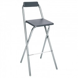 Tabouret de bar pliable LOUNA - Gris