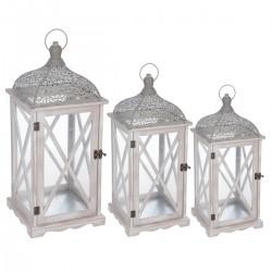 Lot de 3 lanternes FOLKDREAM - Gris clair