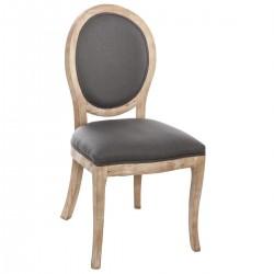 Chaise en bois naturel CLEON, MEMORIES - Gris
