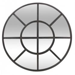 Miroir rond en métal D91cm HISTOIRE DE TOUS LES JOURS - Noir
