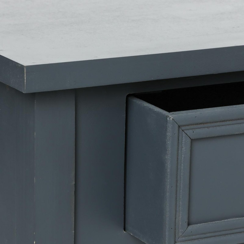 table de chevet charme esprit campagne gris fonc veo shop. Black Bedroom Furniture Sets. Home Design Ideas