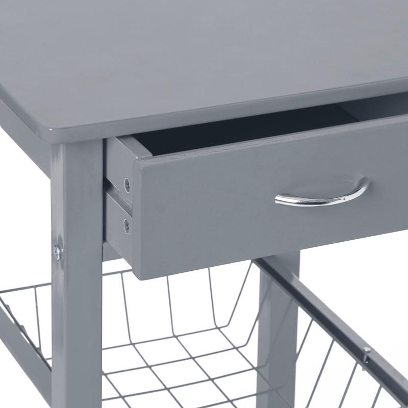 petite desserte de cuisine cooking gris veo shop. Black Bedroom Furniture Sets. Home Design Ideas