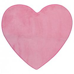 Tapis coeur en microfibre