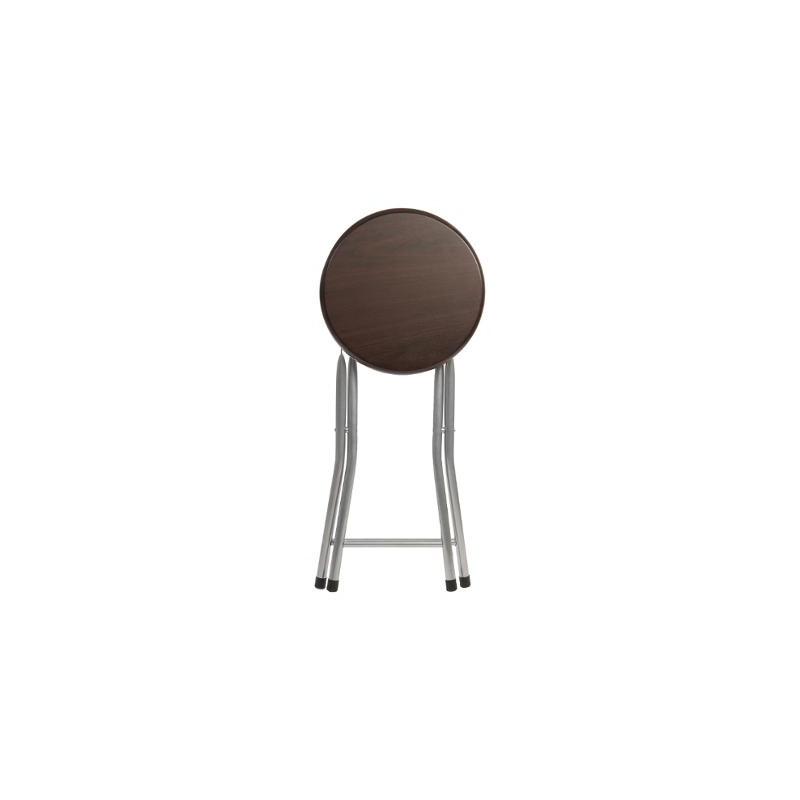tabouret pliant assise en bois marron veo shop. Black Bedroom Furniture Sets. Home Design Ideas