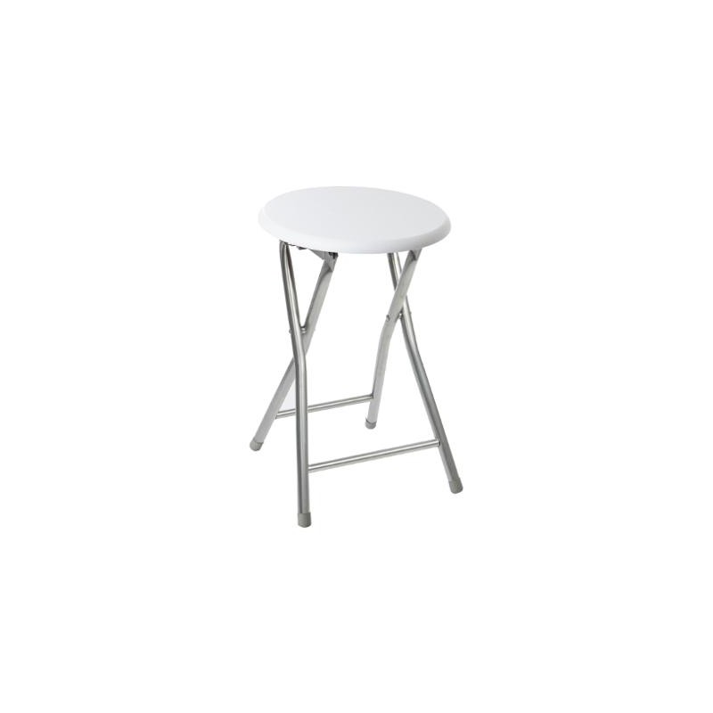 tabouret pliant assise en bois blanc veo shop. Black Bedroom Furniture Sets. Home Design Ideas