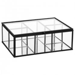 Boîte à bijoux en verre MODERN LIFE - Noir