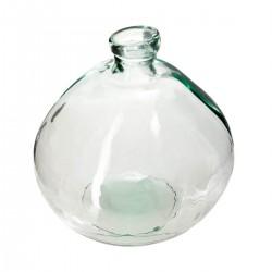 Vase rond en verre recyclé D33cm - Transparent