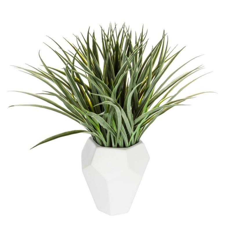 plante verte artificielle avec pot en c ramique h50cm. Black Bedroom Furniture Sets. Home Design Ideas