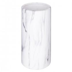 Vase cylindre de déco effet marbre H20cm CONTEMP' HOME - Blanc