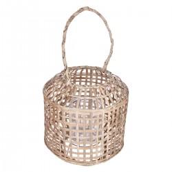 Lanterne en bambou H28 INTÉRIEUR NOMADE - Beige