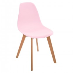 Lot de 2 chaises simples pour enfant - Rose