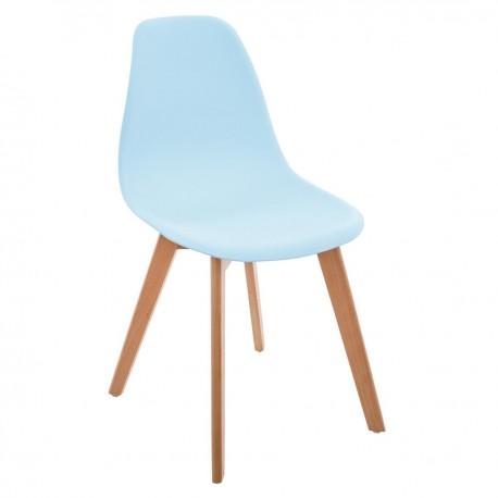 Lot de 2 chaises simples pour enfant - Bleu