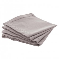 Lot de 4 serviettes de table 40X40cm CHAMBRAY - Gris clair